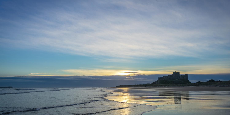 Sunrise at Bamburgh Castle, Northumberland